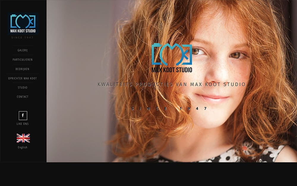 Homepage site van Max Koot Studio