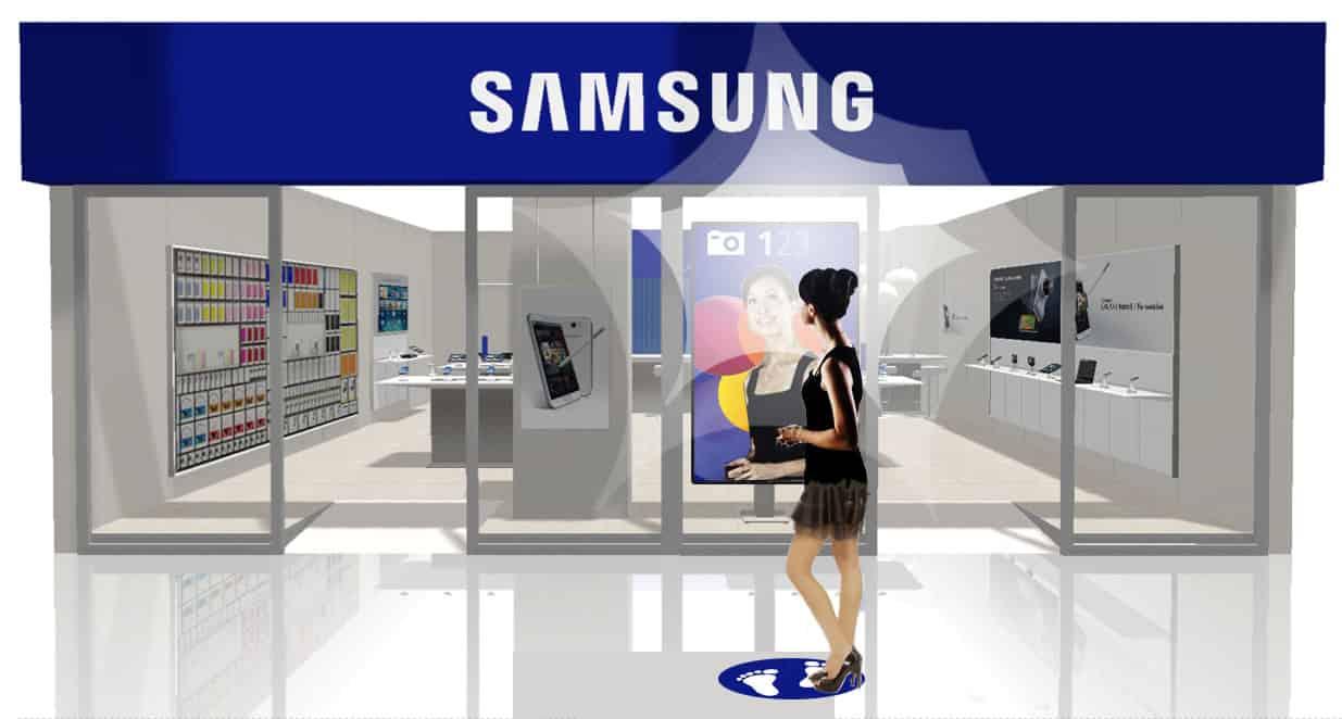 """Samsung concept """"op de foto met een beroemdheid""""."""