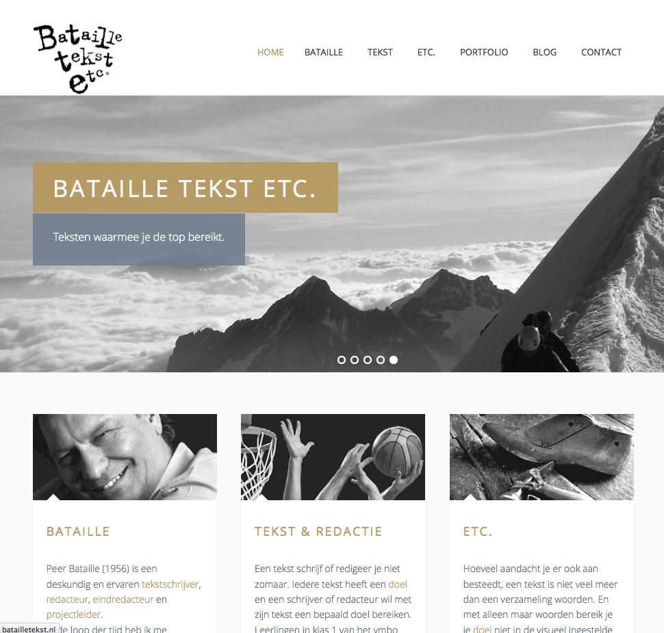 Website Bataille Tekst gemaakt door Stylus Design.