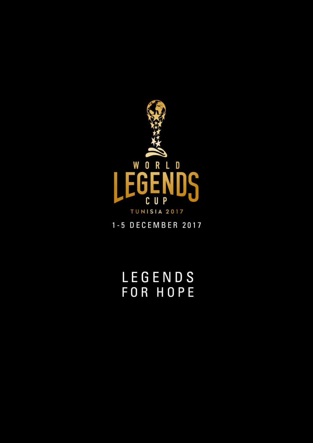 Cover Brochure World Legends Cup 1-5 Dec. 2017