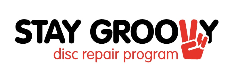 Logo voorstel Stay Groovy. Disc repair program.